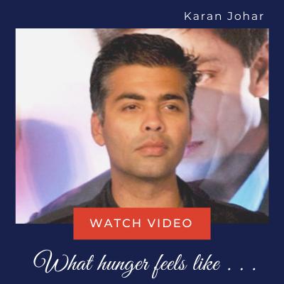 Karan Johar - World Hunger Day